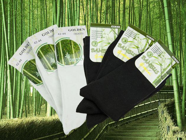Bambusz szálas pamut zoknik - 6 pár / csomag, női és férfi méretek - gátolja a kellemetlen szagok kialakulását
