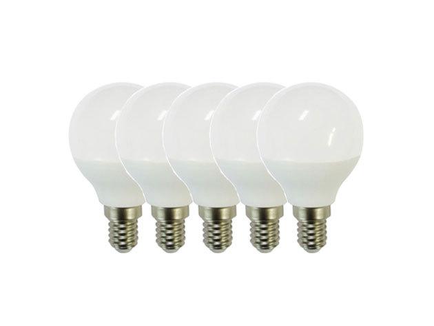 6W-os erős fényű LED izzó, meleg-fehér (5db-os csomagban) - 6W-LED-E14-MF (3000K)