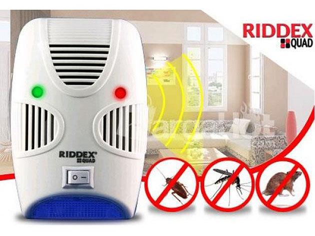 RIDDEX QUAD elektromos rovar- és rágcsáló riasztó készülék / rendkívül hatékony, toxikus anyagok használata nélkül / Tartsd távol a kártevőket!