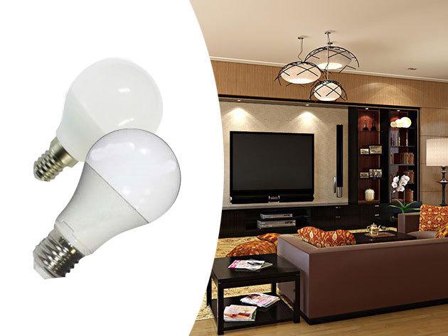 Energiatakarékos LED izzók 5 darabos csomagban, hosszú élettartammal - 6W vagy 10W erősségű, E14 vagy E27 foglalat, meleg/semleges/hideg fénnyel