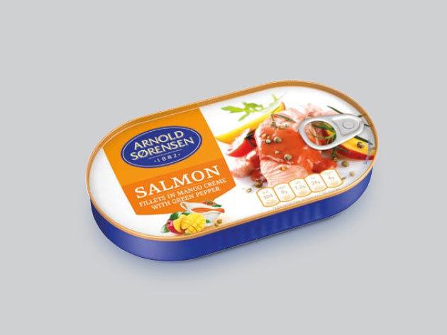 KAIJA Lazacfilé (vad) 170g mangós-borsos szószban