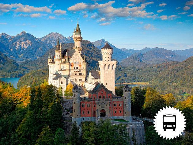 A németországi Neuschwanstein kastély (a világhírű tündérmesék palotája), a csodaszép Salzburg / non-stop buszos kirándul  - időpontok szeptembertől decemberig /fő