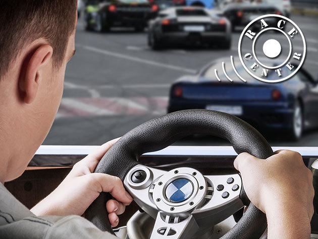 Autóverseny szimulátorozás - 2 óra játék 1 vagy 2 fő részére, kedvezményes ital, perec vagy hot-dog vásárlással, a Racecenter Szimulátor Központban
