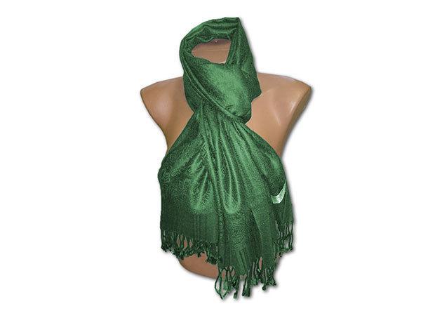 Kasmír sál - sötétzöld