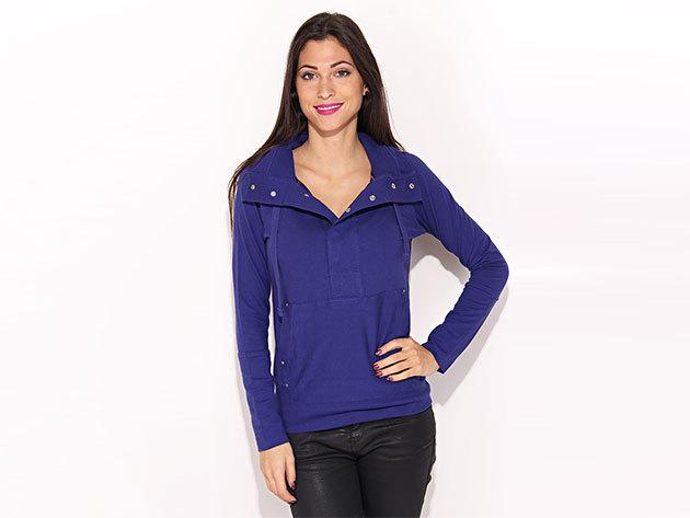 Reebok Go Chill Hoodie, női pulóver - kék - L