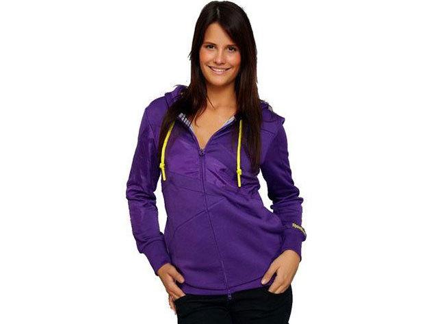 Reebok RS-FZ Hoody, női pulóver - lila L