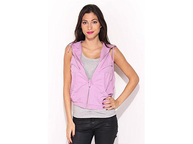 Reebok SC Strada Vest, női mellény - rózsaszín - M