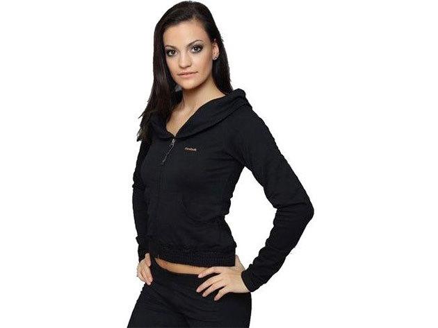 Reebok Plus Track, női pulóver - fekete - M