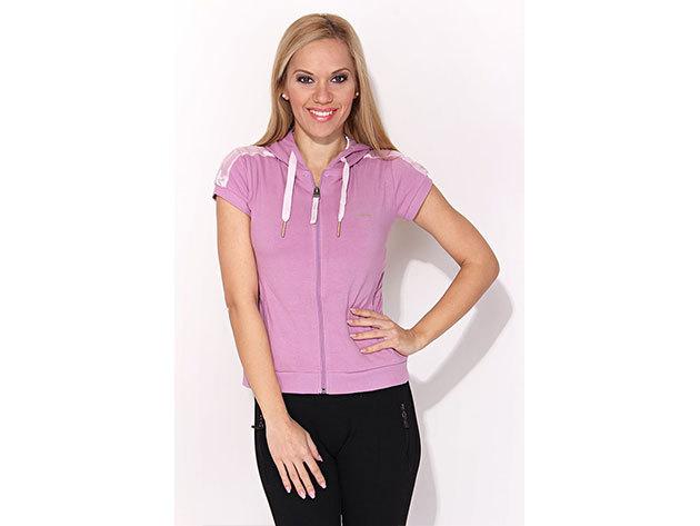 Reebok Full Zip, női pulóver - rózsaszín - M