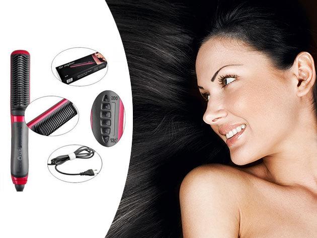 Digitális hajvasaló fésű kerámia fogakkal - segítségével tökéletes frizurát készíthetsz pillanatok alatt