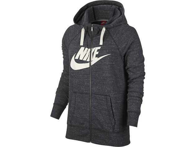 W NSW GYM VNTG HOODIE FZ GX Nõi Nike ZIPPZÁRAS PULÓVER - sötétszürke - L