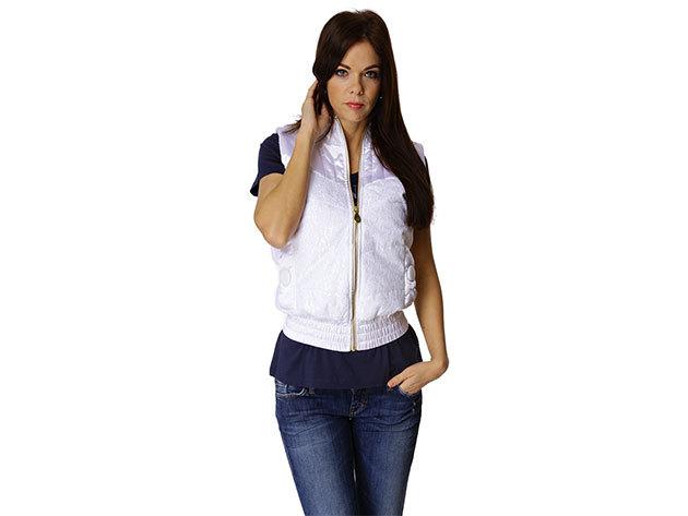 Adidas Lace Puff Vest - női mellény - fehér -  P51106 - 36