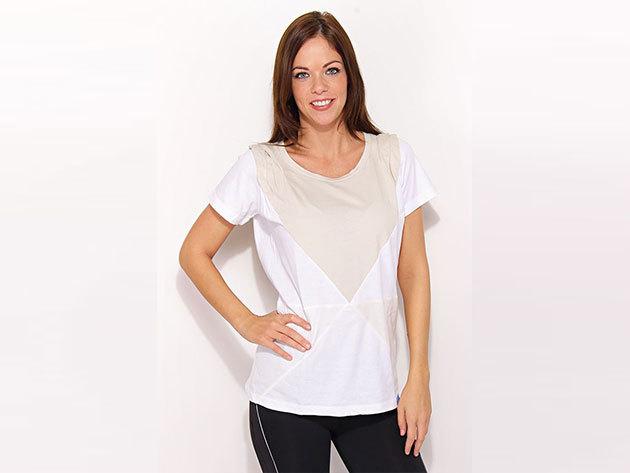 Adidas Cut Sewn Tee - női póló - fehér - P99997 - 38