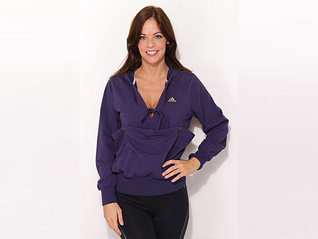 Adidas Hoody - női kapucnis pulóver - lila - V33606 - 34