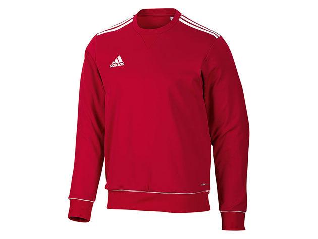 Adidas Core11 Sweat Top - férfi pulóver - piros - V39401 -  34/36 - 162 cm