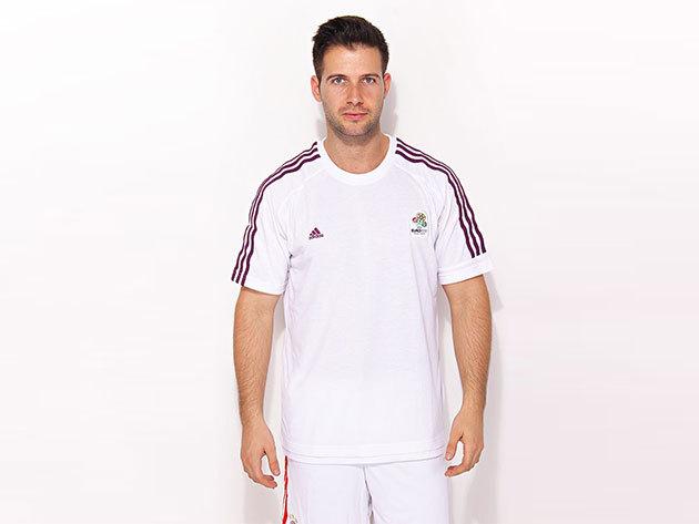 Adidas Official Emblem Tee Men - férfi póló (2012 EB) - fehér - X12479 - L