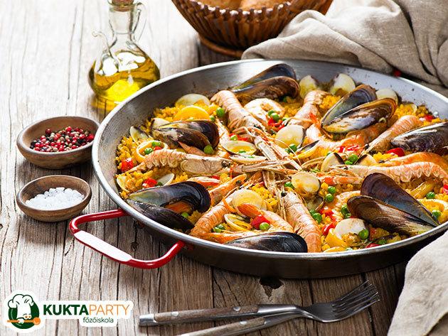 """Spanyol főzőest - """"Paella, Paella, Paella!"""" - tanuld meg a fortélyokat, trükköket, a KuktaParty Főzőiskolában (XIII. kerület)"""