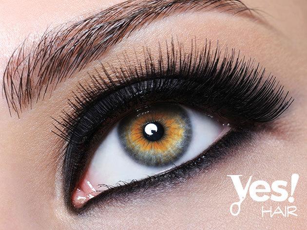 Műszempilla - 2D műszempilla felhelyezése természetes hatással, a Yes Hair Szalonban / II. kerület