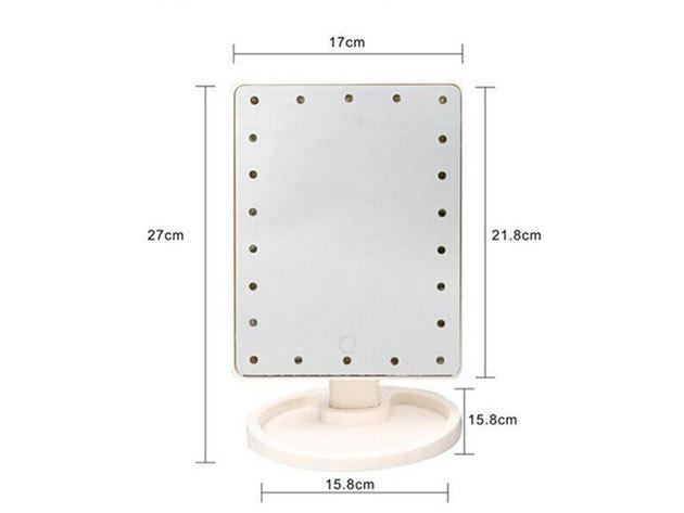 Érintőképernyős sminktükör 16 db beépített LED-del