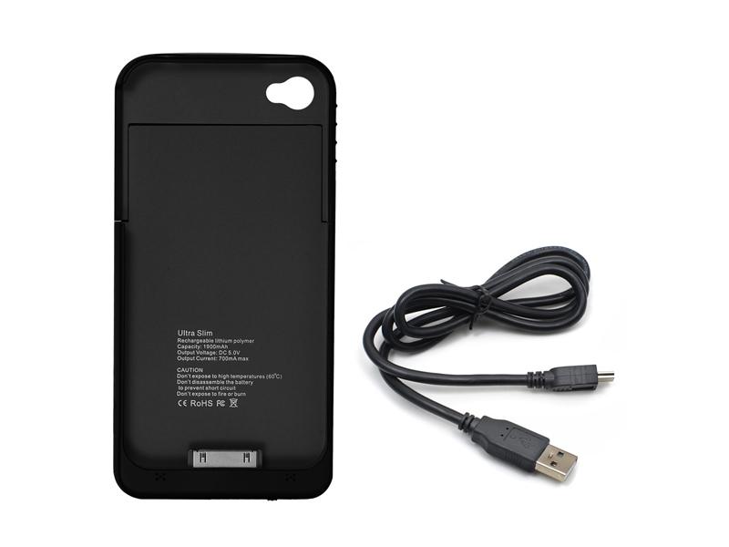 iPhone 4/4S külső hátlap akkumulátor