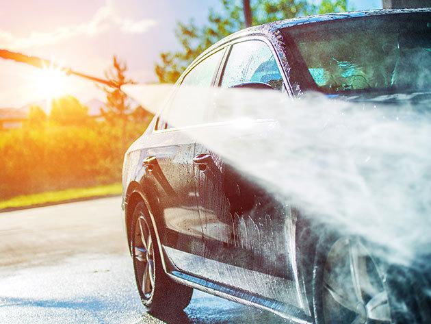 Külső autómosás belső takarítással, üléskárpit tisztítással, és gépi waxolással