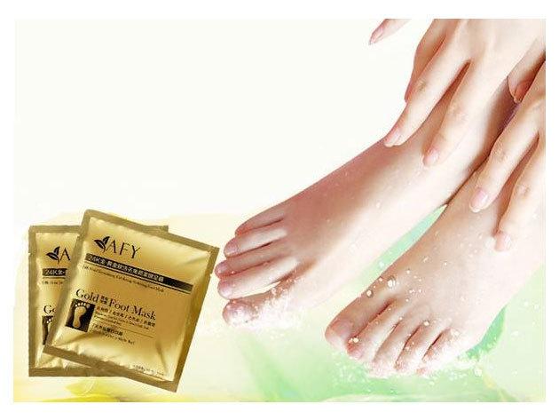 Peeling zokni (1 pár) bőrhámlasztó hatással, természetes összetevőkből - a puha lábbőrért