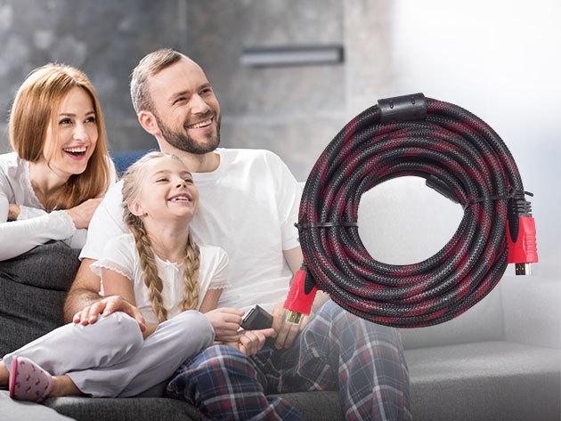 HDMI kábel - 10 méter hosszú prémium minőségű kábel, mely tökéletes kép- és hanghatást biztosít