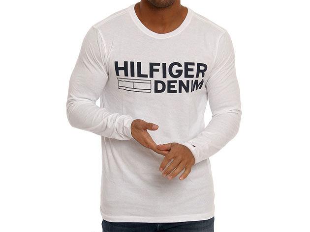 Hilfiger Denim Basic fehér férfi hosszú ujjú felső (L)