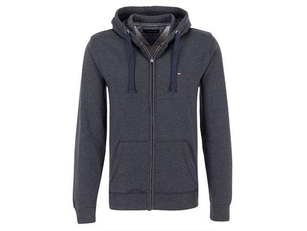 Tommy Hilfiger Simon sötét szürke férfi kapucnis pulóver (XL)