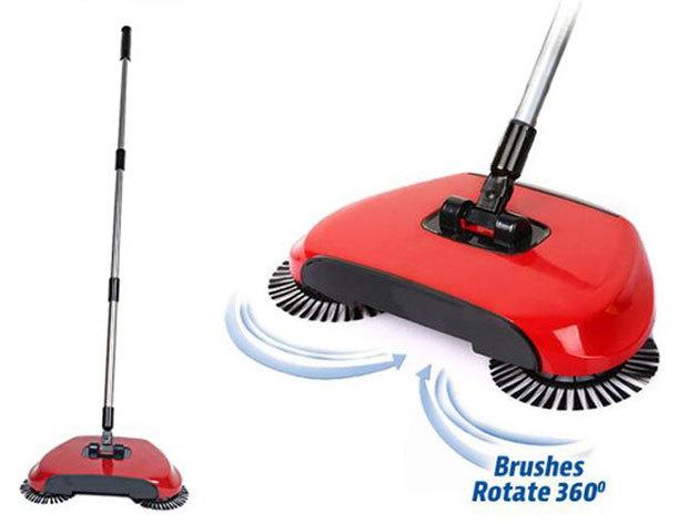 Automata seprű (Sweep Drag) - told végig a szemetes padlón és az a forgó seprű könnyedén összeseper minden útjába kerülő koszt.