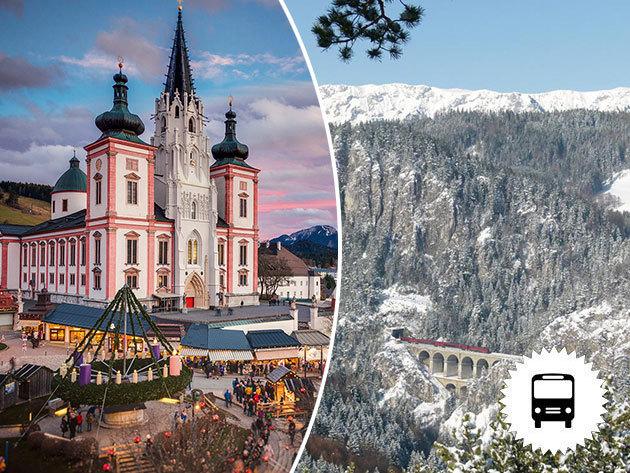 Semmeringi vonatozás és Mariazell Advent idején, a karácsonyra hangolódva - utazás busszal / fő! Időpontok: november 25.,26., december 2., 3., 9., 10., 16., 17.