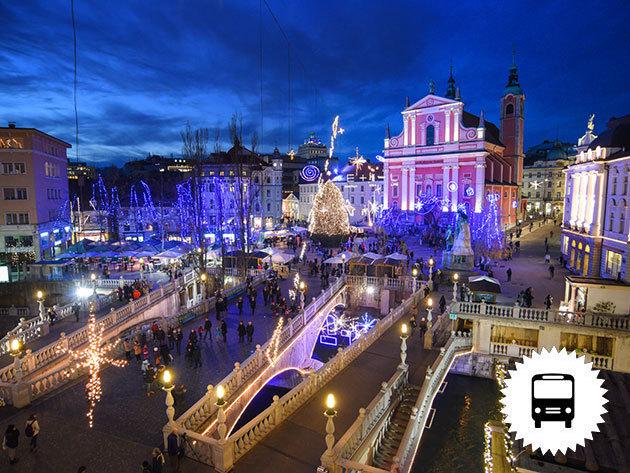 Adventi szomszédolás Szlovéniában: Ljubljana és Maribor, autóbuszos kirándulás december 9-én / fő