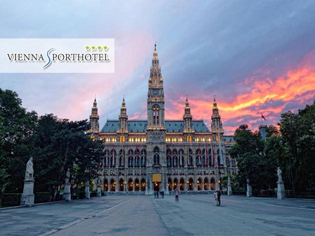 Bécs - 3 nap 2 éjszaka szállás 2 fő részére svédasztalos reggelivel a Vienna Sporthotel**** jóvoltából, szaunázási lehetőség + kedvezmény Parndorfba / 1 évig beváltható