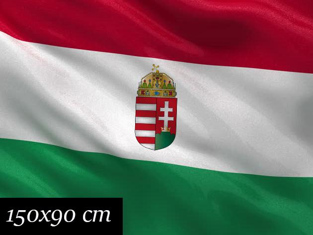 Nemzeti zászló címerrel - 150x90 cm