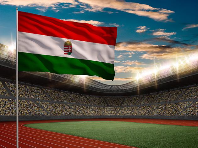 Nemzeti zászló címerrel vagy címer nélkül 90x60 vagy 150x90 cm-es méretben