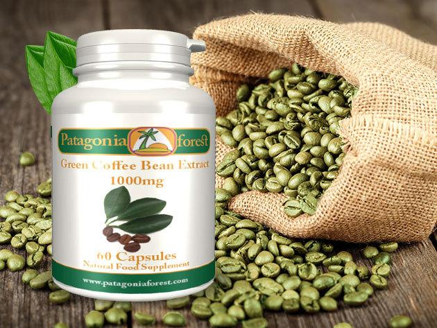 Zöld kávé kapszula, 1000 mg, 60 db tabletta - erős antioxidáns, ideális méregtelenítéshez és fogyókúrázóknak