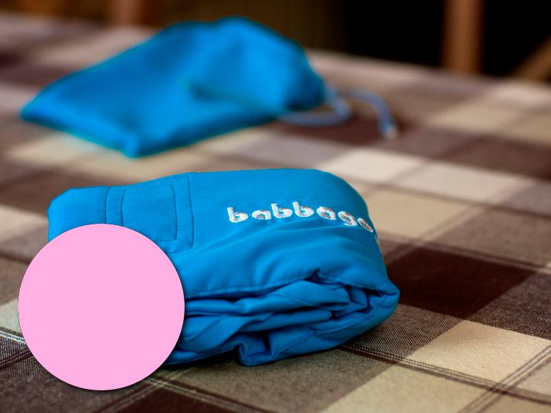 babbago - székre tehető textil etetőszék - Púderrózsaszín