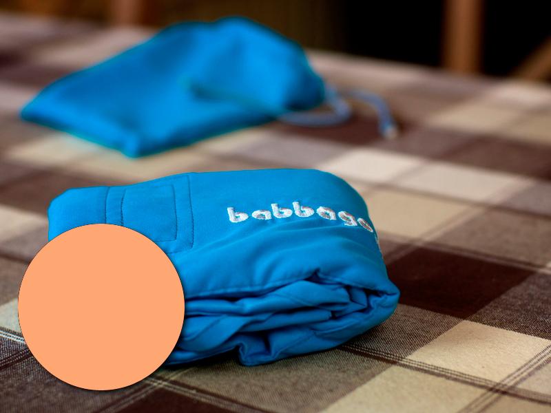 babbago - székre tehető textil etetőszék - Barack