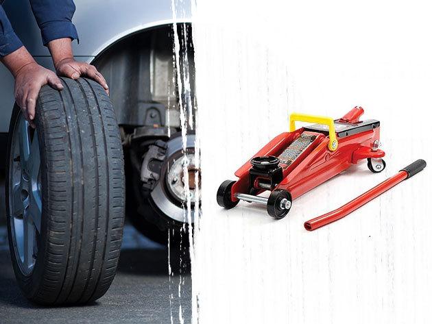 Hidraulikus emelő 2 tonna teherbírással gépjárművek ideiglenes megemeléséhez, szereléshez, vagy egyszerűbb kerékcseréhez