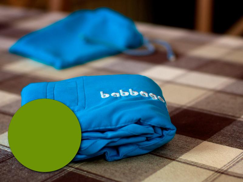 babbago - székre tehető textil etetőszék - Zöld