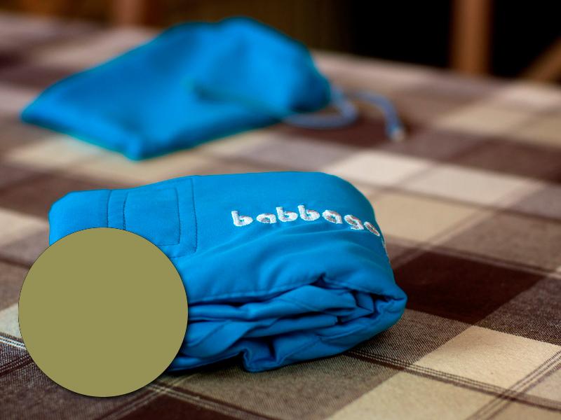 babbago - székre tehető textil etetőszék - Nato zöld