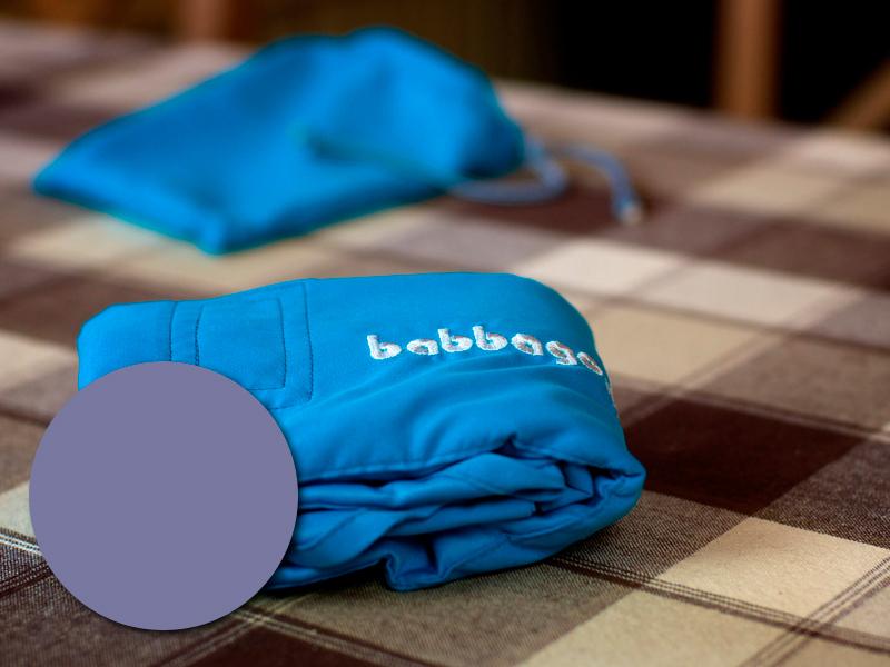 babbago - székre tehető textil etetőszék - Szürkéskék