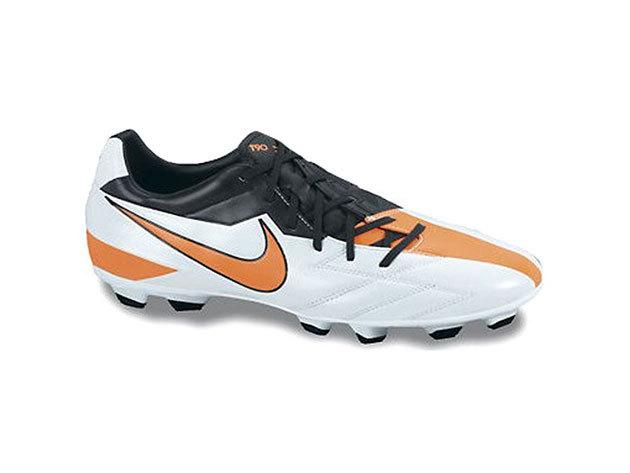 Nike T90 Strike IV FG férfi futballcipő fehér/narancs 44 (nike_472562_480_44)