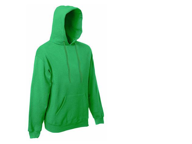 Zöld - Fruit of the Loom kapucnis férfi pulóver