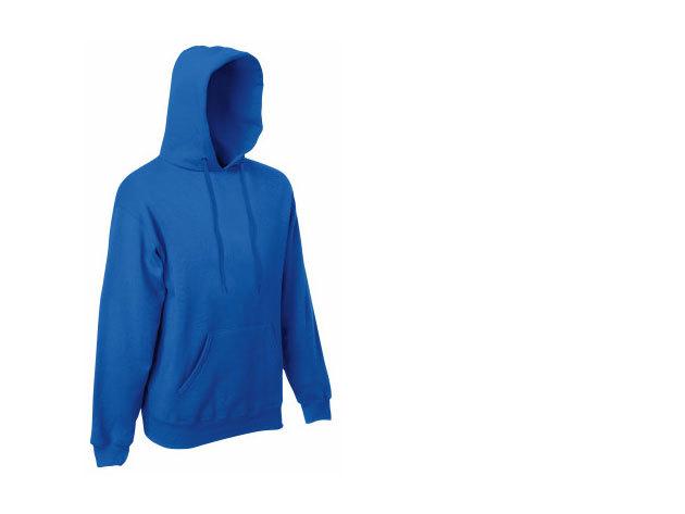 Kék - Fruit of the Loom kapucnis férfi pulóver