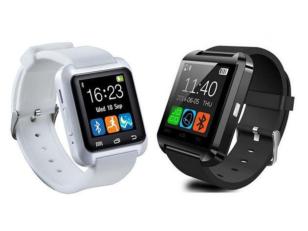 Phone Mate U8 érintőkijelzős okosóra  fekete és fehér színben - hívásfogadás, stopper, kihangosító, zenelejátszás... stb. / hasznos társ a mindennapokban