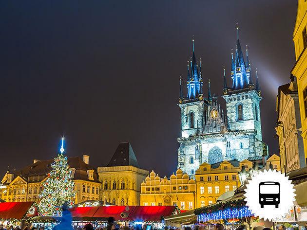 Advent Prágában - buszos utazás idegenvezetővel, fakultatív lehetőség: hajókirándulás esti fényben a Vltaván svédasztalos vacsorával / fő