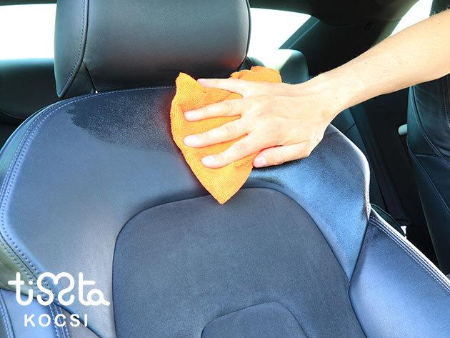 Autókozmetika: Üléskárpit-tisztítás, külső-belső takarítás + viasz + gumi és teljes műanyagápolás a Hungária krt-nál / XIV. kerület