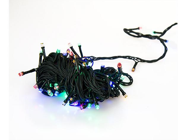 Karácsonyi LED fények - 300LED (30m) - Színes - AZONNAL ÁTVEHETŐ