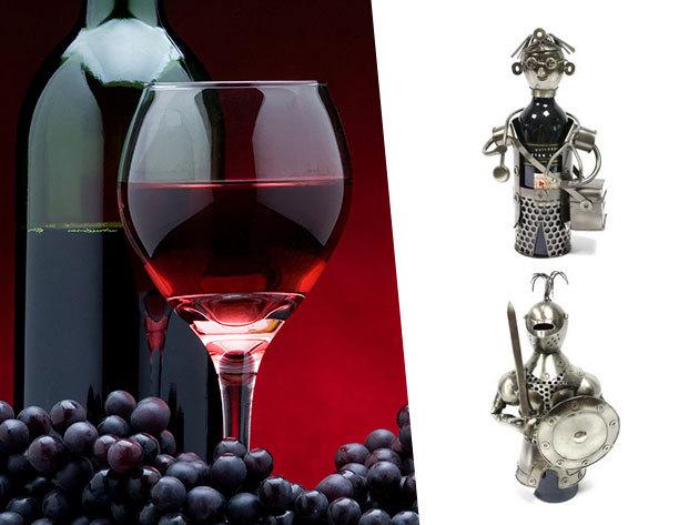 Fém bortartók szakmák és hobbik szerint - kedvelt, tökéletes ajándék minden alkalomra